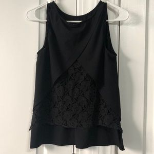 ⚡️Black Tank Top with Lace Back Detail